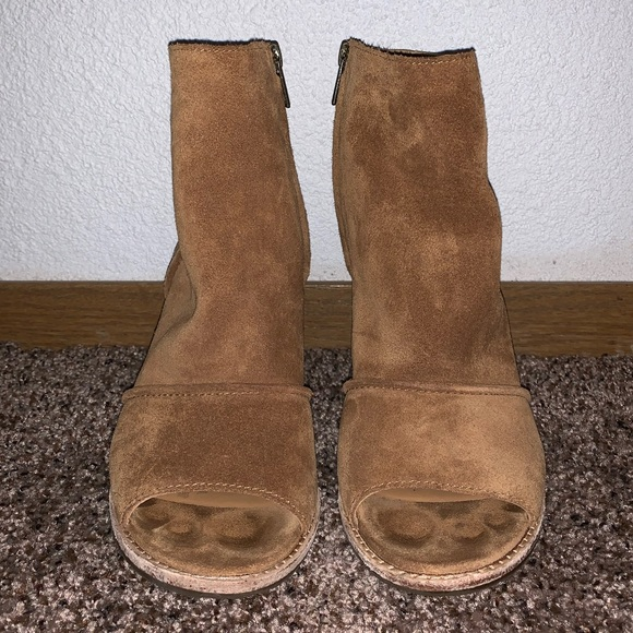 defd461270b Womens UGG Suede Valencia Peep Toe Heel